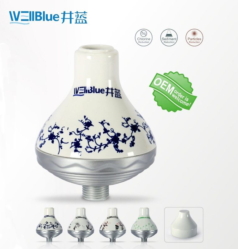 WellBlue OEM Chlorine Removal Shower Filter , Portable SPA Shower Head Filter