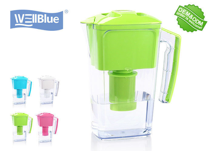 2.5L Plastic Wellblue Alkaline Water Pitcher , Pure Alkaline Mineral Water Maker